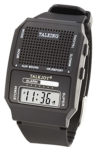 Sprechende Armbanduhr Sprachfunktion Sprachausgabe Sehschwäche Alltagshilfe LCD Wecker Blindenwecker Stündliche Zeitansage Alarm