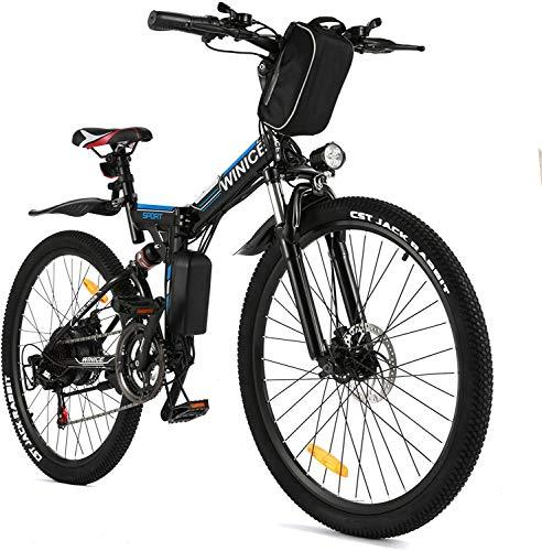 VIVI E-Bike Herren Elektrofahrrad, 26 Zoll Ebike Klapprad 350W Mountainbike Mit Herausnehmbarer 8Ah Batterie,...