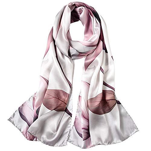 WH-IOE Lady Seidenschal Frauen 175cm * 52cm Soft-Mode-Druck-Schal-Ansatz-Schal-Schal-Verpackung Sarong Anti-Allergie-Halsschutz Schal für Frauen Warm (Farbe : 1, Größe : 175cm*52cm)