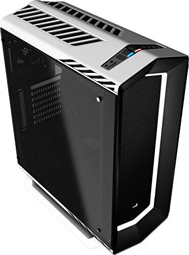 Aerocool P7C1WG, caja gaming PC ATX, LED 8 colores, ventilador trasero, Blanco con cristal templado Única