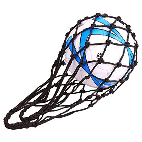 Toporchid Basketball Carry Net Soccer Mesh Bag Fußballtasche Ball Aufbewahrungstasche Für Volleyball (Schwarz)