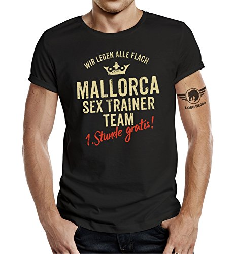 LOBO NEGRO Original T-Shirt für den Ballermann Fan: Mallorca Sex Trainer -XXL