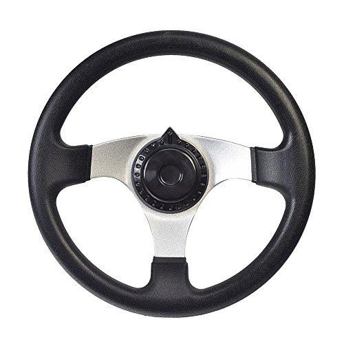 AlveyTech Go-Kart Steering Wheel with Cap for Kandi, Hammerhead, Roketa, Taotao Go-Karts & Dune...