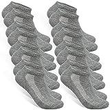STYLE FOREVER Premium Sneaker Socken Herren und Damen 8 Paar (8x Grau, 47-50)