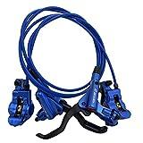 Zoom MTB - Freno de Disco hidráulico para Bicicleta de montaña XC HB-875 Pro con Carcasa Azul, Conjunto Delantero y Trasero