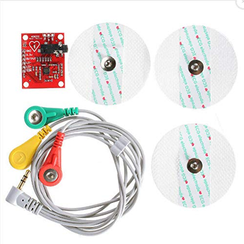 PANAMI Supplies for AD8232 ECG Heart Monitor Measurement Kit Sensor Module Pulse Single Lead Arduino DIY for Sewing & Accessories