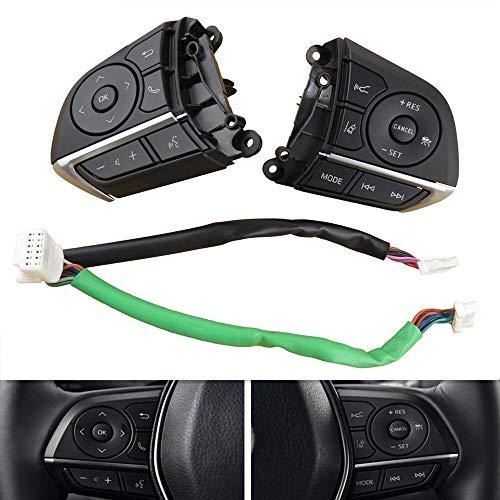 ZhengELE Control del Volante Botones del Control Remoto Botón de Control de Velocidad de Bluetooth for el Extranjero Avalon TRD Sport 2019
