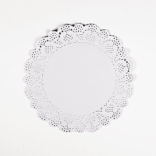PaperLanternStore.com 11.5 Inch White Lace Paper Doilies Disposable Party Table Decor (50-PACK)