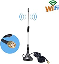 Aigital 4G LTE Antenna SMA Antenna High Gain 11dBi Omni Directional Antenna with Magnetic Base SMA Male Connector 2G 3G 4G/GSM WiFi Signal Booster for Huawei Mobile Hotspot 4G LTE Router Modem etc
