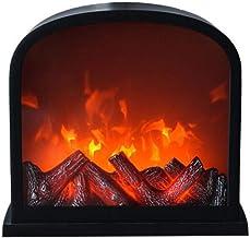 Cocina de la Chimenea de Llama Calentador Portátil Estufa eléctrica Vintage Burning Flame Effe Effe Fireplace Hogar Calefacción, LED Fallo Efecto - Negro,B