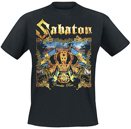 Sabaton Carolus rex Männer T-Shirt schwarz L 100% Baumwolle Band-Merch, Bands