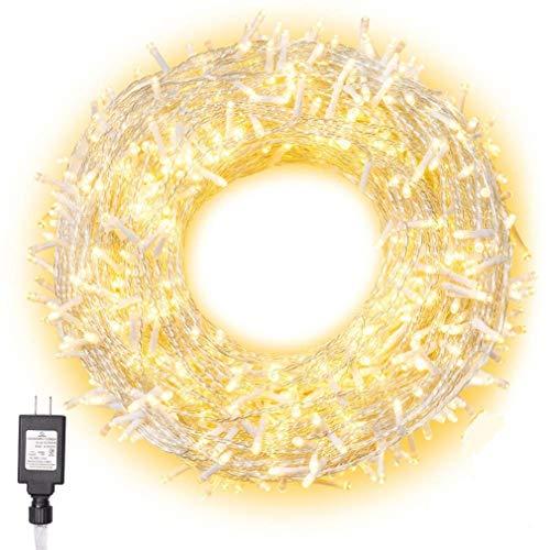 XY-M Fairy Lights,Luces LED Blancas Cálidas Enchufe Luces De Jardín Luces Exteriores Alimentadas por La Red Impermeable para Decoraciones Navideñas De árboles De Navidad En Interiores