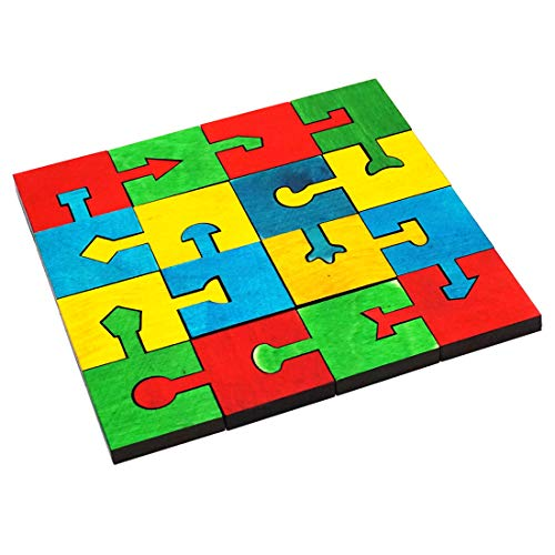 Skola Toys Locking Blocks - Interlocking Jigsaw Puzzles