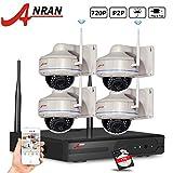 ANRAN 720P Wifi NVR Outdoor IP Sicherheit Kamera System mit 4von 720p Wireless