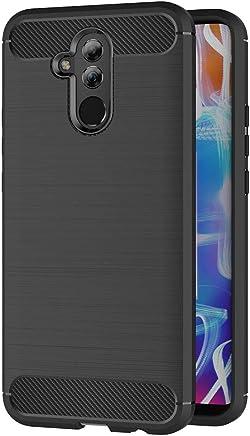 AICEK Funda Huawei Mate 20 Lite, Negro Silicona Fundas para Huawei Mate 20 Lite Carcasa Mate 20 Lite Fibra de Carbono Funda Case (6,3 Pulgadas)