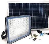 AntDau71 - 500W Faro LED Esterno con Pannello Solare Luce Bianca 6000K Faretto Solare LED con Telecomando Materiale in Alluminio Impermeabile IP67 5000lm Energia Fotovoltaica Illumina tutta la notte