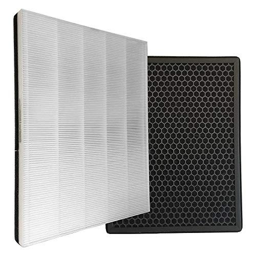 Wessper Kit de filtros de carbón Activado y True HEPA de Repuesto,Filtro FY1410/30 y FY1413/30,Compatible con Philips AC1215 AC1214/60 Purificador de Aire