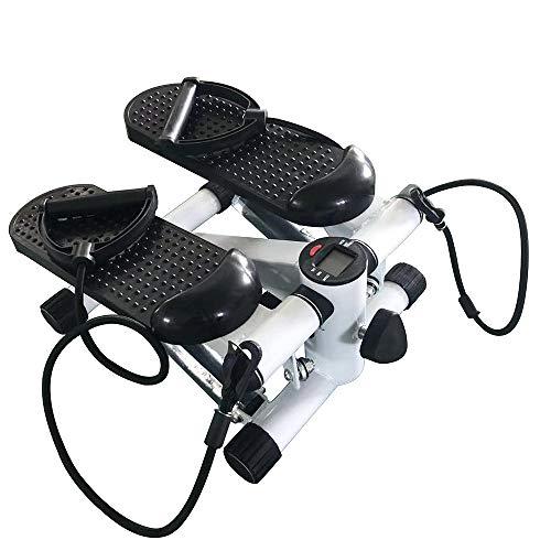 YIZHE Up-Down-Stepper con Display LCD e Power Ropes, Fitness Stepper per Casa e Ufficio, Step Fitness (Nero)