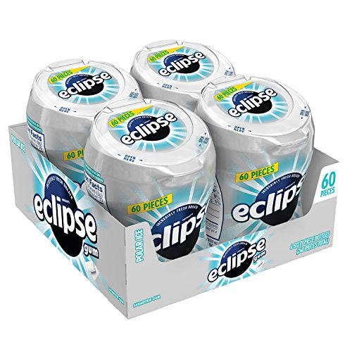 ECLIPSE Gum Polar Ice Sugar Free Chewing Gum 60-Piece Bottle (4 Pack)