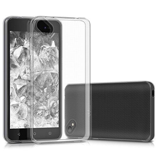 kwmobile Hülle kompatibel mit Wiko Sunny 2 Plus - Silikon Handyhülle transparent - Handy Hülle in Transparent