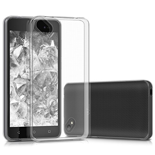 kwmobile Wiko Sunny 2 Plus Hülle - Handyhülle für Wiko Sunny 2 Plus - Handy Case in Transparent
