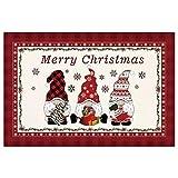 ACAREY Alfombra de Navidad, decoración de Navidad, antideslizante, alfombra de baño, alfombra de puerta, decoración navideña para el hogar, dormitorio, pasillo, salón, cocina, baño (Tipo A)