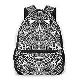 Hdadwy Calendario Maya Mochilas de la profecía del Fin del Mundo para Adultos Niños Mayores Bolsas de Viaje duraderas para portátiles de Negocios Mochila para Trabajo al Aire Libre