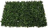 SZ Plancha Alfombra de Césped Artificial 60 * 40cm Jardín Vertical Decoración Interior Pared Hierba (Boj)