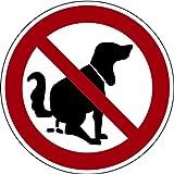 LEMAX® Schild Hier kein Hundeklo Aluminium 200mm (Hundekot, Hundehaufen, Hundetoilette) praxisbewährt, wetterfest