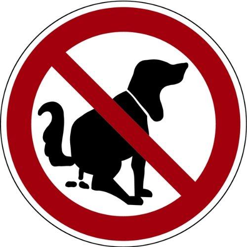 Schild Alu Hier kein Hundeklo 200 mm, kein Hundekot, Verbot Hundetoilette, keine Hundehaufen