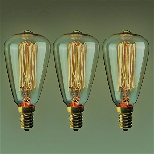 3 x Vintage-Glühbirnen, Retro, altmodisch, Edison-Stil, E14-Gewinde, 40 W, 220 V, Wolfram-Filament, Antike Lampe, 7,6 cm Set