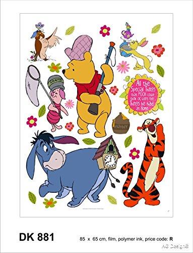 AG Winnie l'ourson/Maxi Stickers muraux 85x65cm