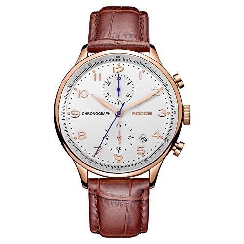 ROCOS Reloj de Cuarzo Japones Reloj Analogico para Hombre Reloj de Pul