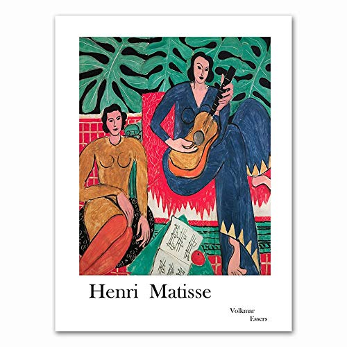 Matisse carteles e impresiones guitarra retrato de niña arte de la pared lienzo hogar sin marco pintura decorativa en lienzo B 20x30cm