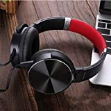 WuMei101 Headphones Computer Mobile Phone Sports Games Music Headphones with Wheat Wire Control Gaming Headset (Color : Black)