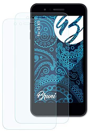 Bruni Schutzfolie kompatibel mit LG K9 Folie, glasklare Bildschirmschutzfolie (2X)
