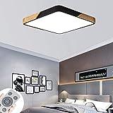 COOSNUG 60W Dimmbar LED Deckenleuchte Holz Deckenlampe Wohnzimmer Mit Fernbedienung Wandlampe Leuchte