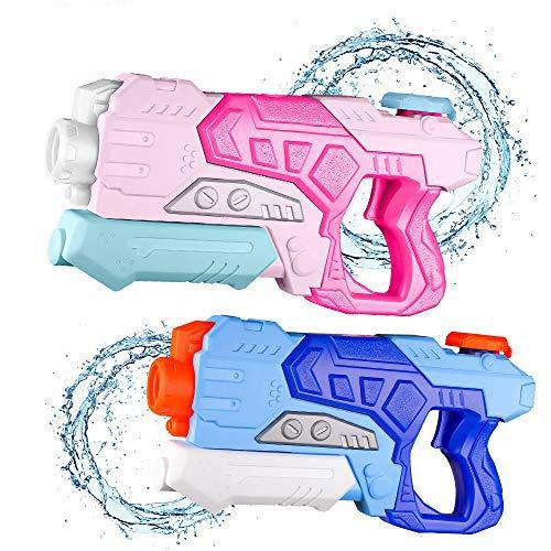 Gimsan Wasserpistole Spielzeug, 600ML Spritzpistolen für Kinder Erwachsene Groß Wasserspritzpistolen 8-10 Metern Langer Reichweiter, 2 Stück