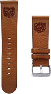 Affinity Bands Missouri State Bears 18mm Premium Leather Watch Band - 2 Lengths - 3 Leather Colors - Officially Licensed