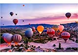 1000 Piece Jigsaw Puzzles, Jigsaw Puzzles for Adults Teenagers Jigsaw Puzzle Hot Air Balloon (70x50cm)