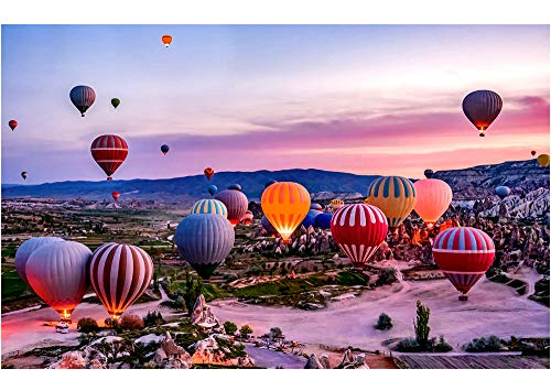 1000 Pieces Adult Large Puzzles Difficult Noctilucent Growups Puzzle Hot Balloon