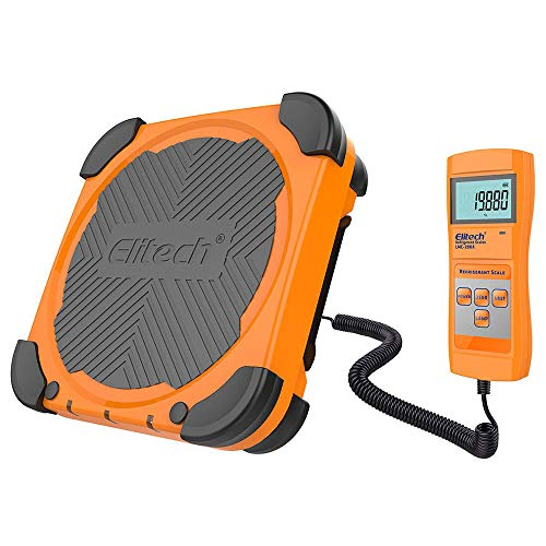 Elitech LMC-200A Electronic Refrigerant Charging Weight Recovery Scale Wired Remote, Freon Scale 330lbs/150kgs