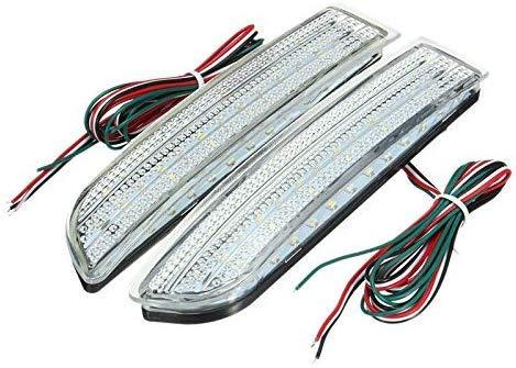 SUK 2X Coche Led Luz Trasera Luz de Freno de estacionamiento Parachoques Trasero Lámpara reflectora para Avensis/Alphard Mki / Rav4 Luces traseras LED Luces antiniebla Luces de estacionamiento Blanco