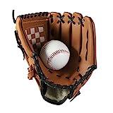 JIAHG Guanti da baseball Sport Outdoor Baseball Guanti da Batting Guanti Spessi Soft Ball Guanti in pelle PU per bambini