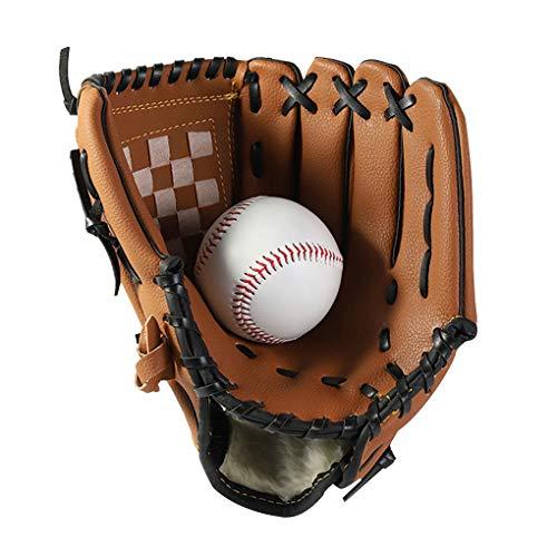 JIAHG Baseball Handschuhe Sport Outdoor Baseball Glove Batting Handschuhe Verdickt Softball Handschuhe aus PU-Leder linken Sporthandschuh für Kleinkinder Kinder