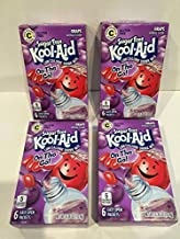 Kool-Aid Sugar Free Low Calorie Drink Mix 6 easy open packets (Pack of 4) Gluten Free (Grape)