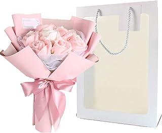 Ramo de flores de jabón con embalaje fino para madres, flores artificiales con bolso visual, para mujeres