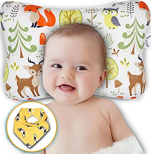 Product Image of the Bliss N Baby Head Shaping Pillow - Baby Pillow for Newborn Prevent Flat Head &...