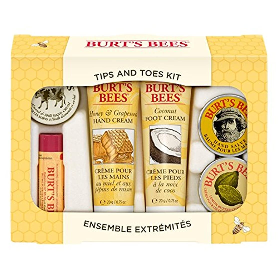 ピンポイントインスタンス最高バーツビーのヒントとつま先はスターターキットをスキンケア (Burt's Bees) (x6) - Burt's Bees Tips And Toes Skincare Starter Kit (Pack of 6) [並行輸入品]