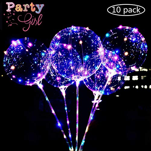 Fantastic Deal! [SALE]10 PCS LED Balloons Light Up Clear Bobo Balloon 15IN Reusable Transparent Bobo...